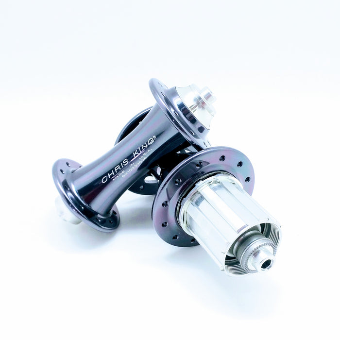 Chris King R45 Ceramic Road Hub Set - Pewter