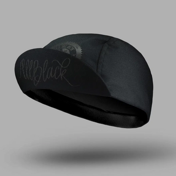 Bello Cotton Cycling Cap - All Black CC - SpinWarriors