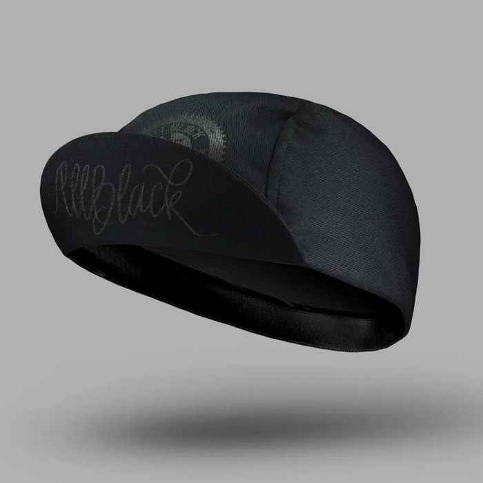 Bello Cotton Cycling Cap - All Black CC