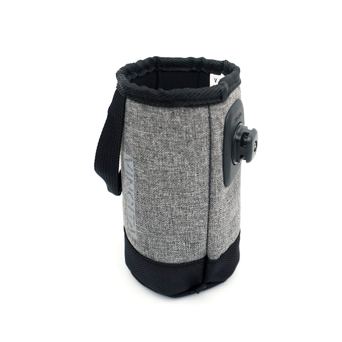 Vincita B124B-GR Brompton Bottle Bag with Klickfix Quad Adapter - Grey