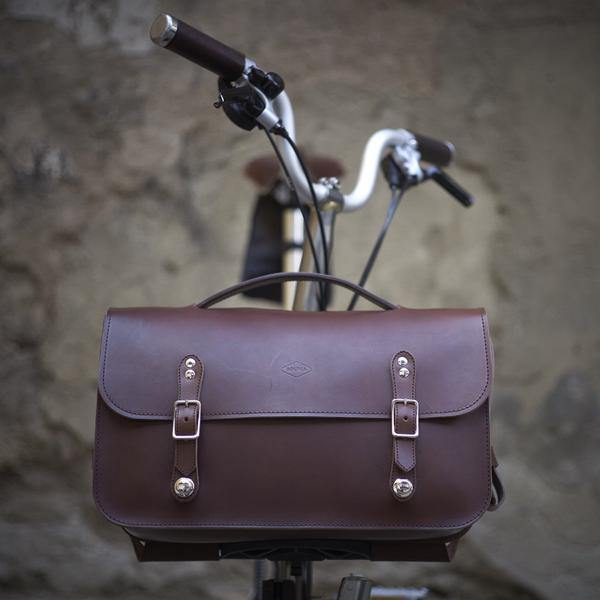 Souma Brompton Leather Briefcase - Brown