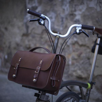 Souma Brompton Leather Camera Bag - Brown - SpinWarriors
