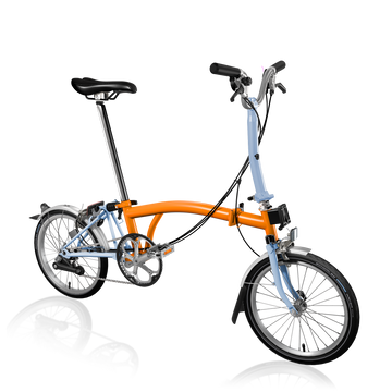 Brompton M6L - Orange/Cloud Blue - SpinWarriors