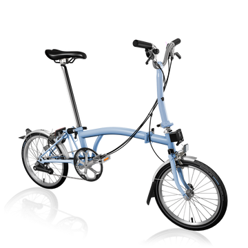 Brompton M6L - Cloud Blue/Cloud Blue - SpinWarriors