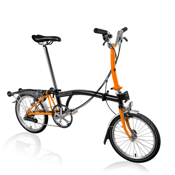 Brompton M6R - Black/Orange - SpinWarriors