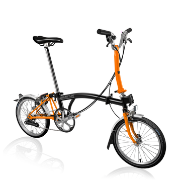 Brompton M6L - Black/Orange - SpinWarriors