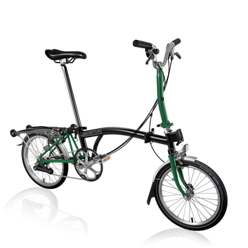 Brompton M6R - Black/Racing Green - SpinWarriors