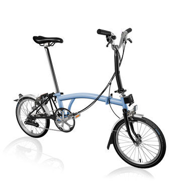Brompton M6L - Cloud Blue/Black - SpinWarriors