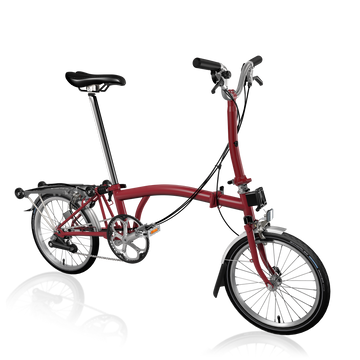Brompton M6R - House Red/House Red - SpinWarriors