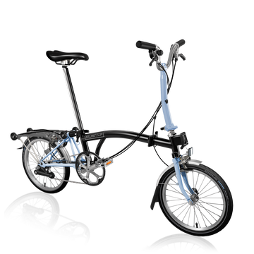 Brompton M6R - Black/Cloud Blue - SpinWarriors
