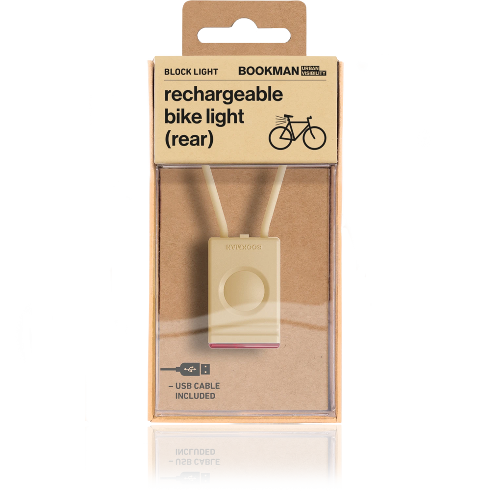 Bookman Block Rear Light - Beige