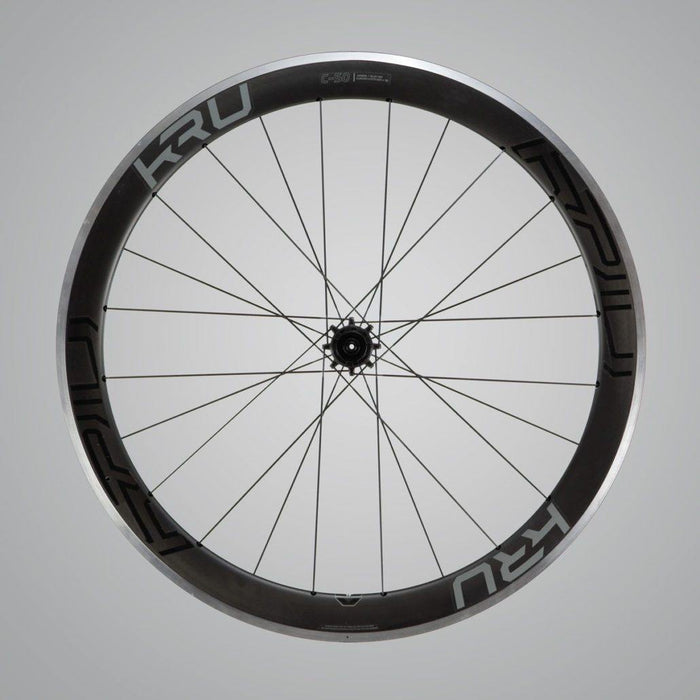 Kru C-50 Clincher Road Wheelset - Grey Decal