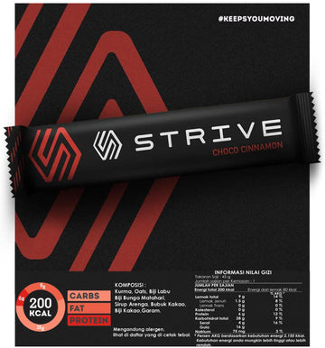 Strive Energy Bar - Choco Cinnamon - SpinWarriors