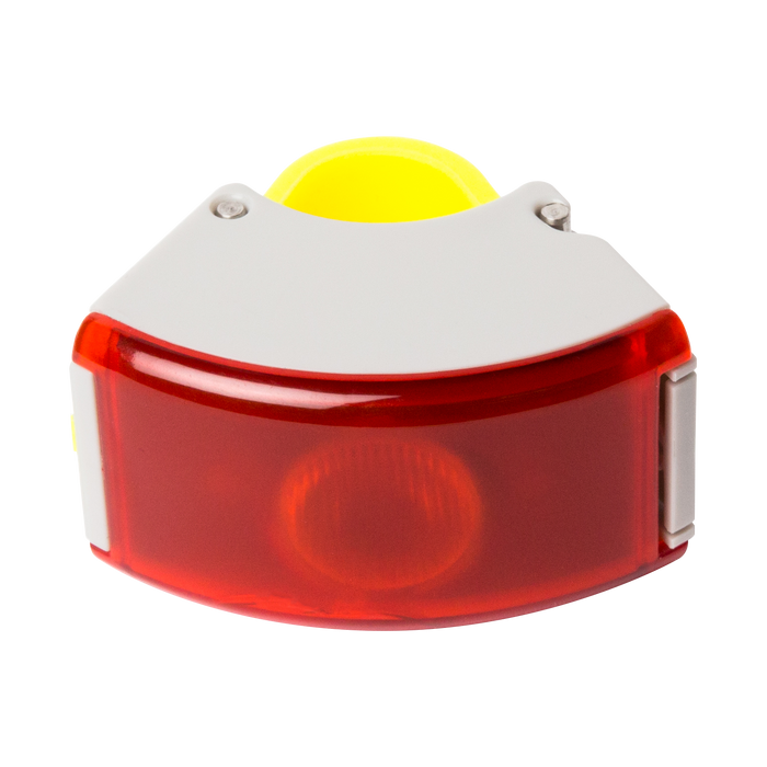 Bookman Curve Rear Light - Grey/Acid Yellow