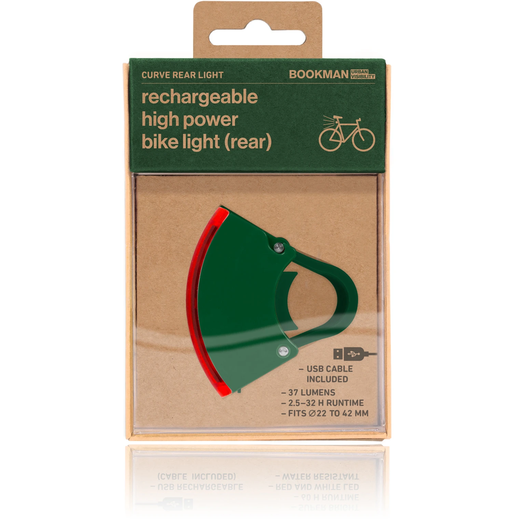 Bookman Curve Rear Light - Green