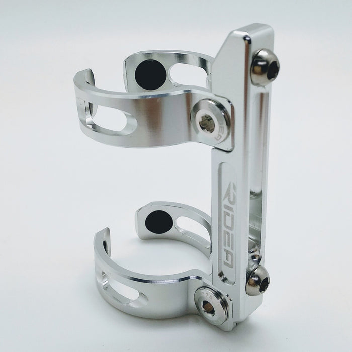 Ridea ESFCAD-SR Brompton Double Clamp Bottle Cage Adapter - Silver
