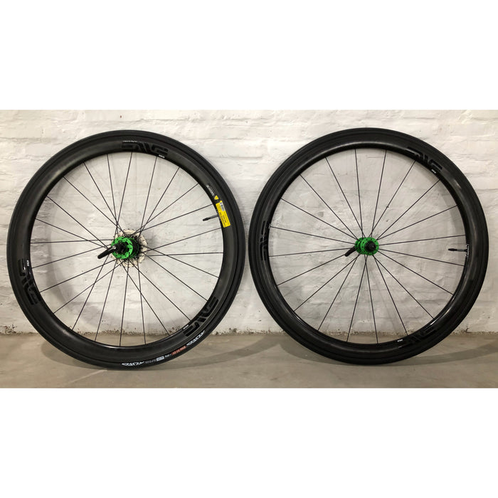 ENVE SES 3.4 Carbon Tubular Road Wheelset - Chris King R45 Matte Emerald Green Ceramic Hub