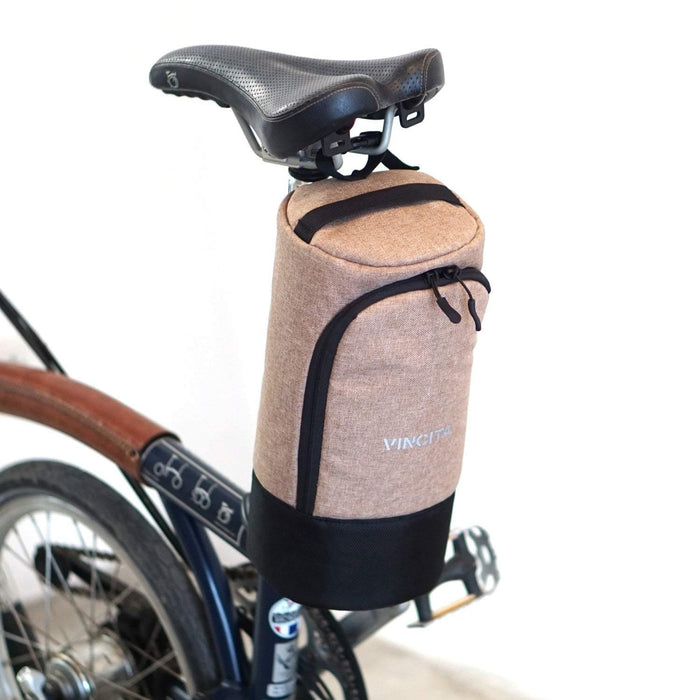 Vincita Nova Saddle Bag for Folding Bike - Brown
