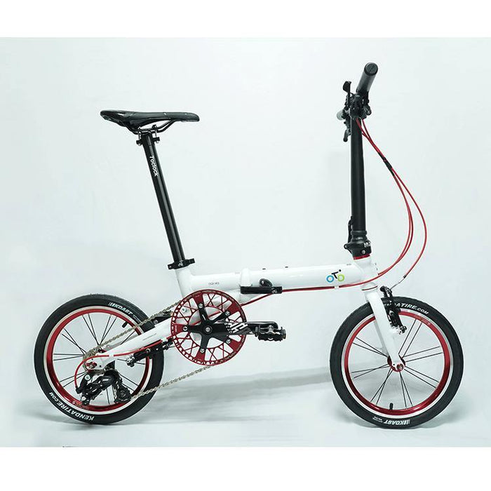 Flock OTD 16 - 3 Speed Folding Bike - White