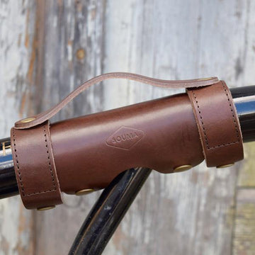 Souma Brompton Leather Carry Handle - All Brown - SpinWarriors