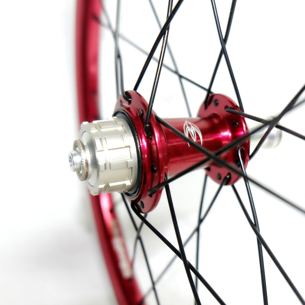 WheelSport Magic 349 Brompton 2 Speed Alloy Wheelset - Red