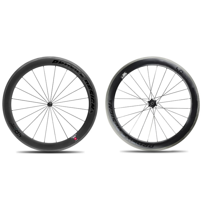 Profile Design 58/TwentyFour Carbon Clincher Wheelset - Black Decal