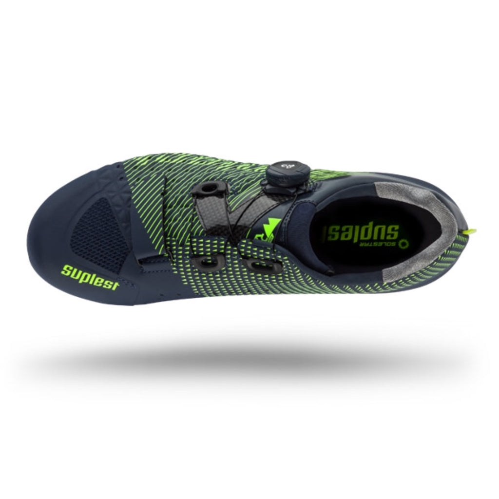 Suplest Edge/3 Performance Road Shoes - Navy/Lime