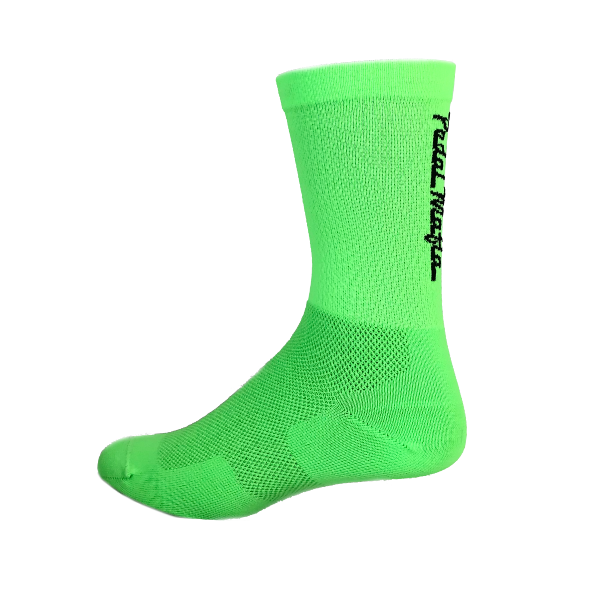 Pedal Mafia Bright Green & Black Tech Mesh Sock