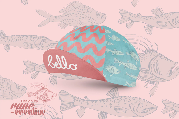 Bello Cotton Cycling Cap - Fishy Fish