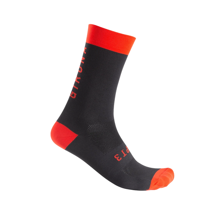 CHPT3 Girona S2 Socks - Black/Fire Red