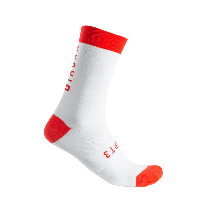 CHPT3 Girona S2 Socks - White/Fire Red