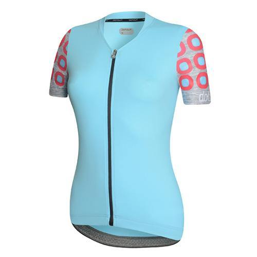 Dotout Dots Woman Jersey - Light Blue/Pink