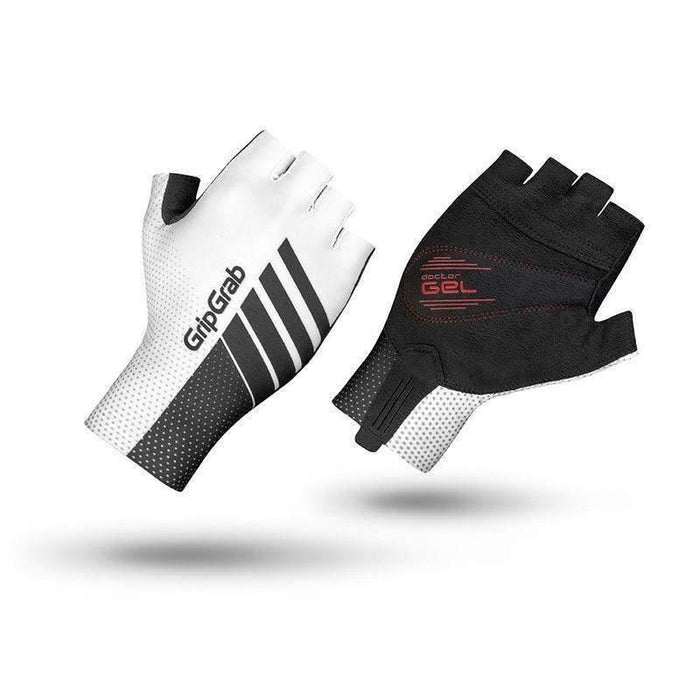 GripGrab Aero TT Raceday Glove - White/Black
