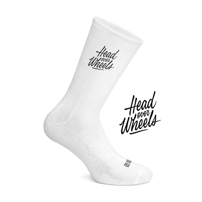 Cois Head Over Wheels Cycling Socks - White