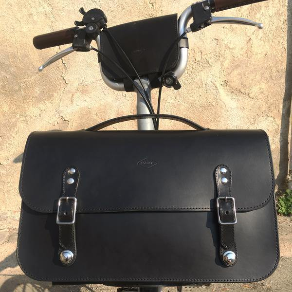 Souma Brompton Leather Camera Bag - Black