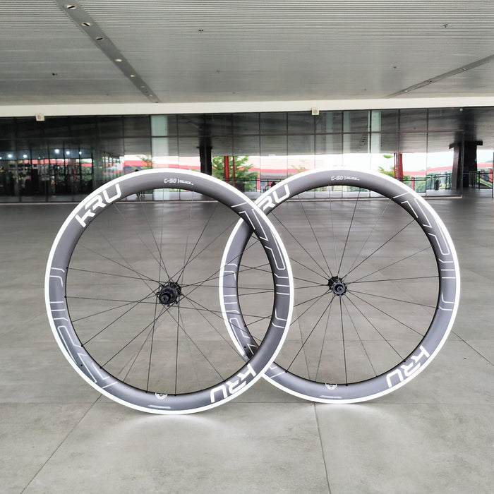 Kru C-50 Clincher Road Wheelset - White Decal