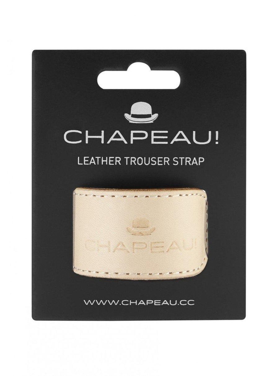 Chapeau! Leather Trouser Strap - Natural - SpinWarriors