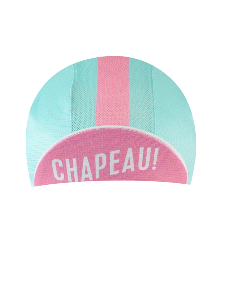 Chapeau! Lightweight Ladies Cap - Block Stripe, Surf Blue