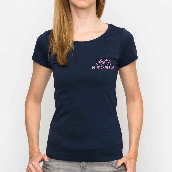 Peloton de Paris The Classic Navy Women T-Shirt 12ae1ba3e