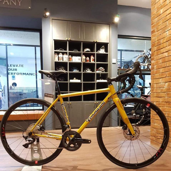 Tommasini Fire Road Disc Bike with Shimano Ultegra - Golden Yellow