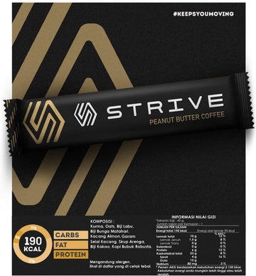 Strive Energy Bar - Peanut Butter Coffee - SpinWarriors