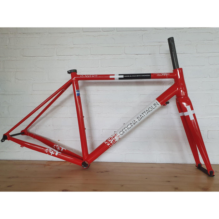 Battaglin Power+ Disc Steel Frameset - Red