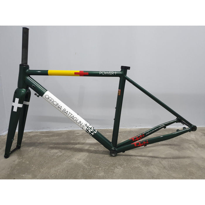 Battaglin Power+ Disc Steel Frameset - Racing Green