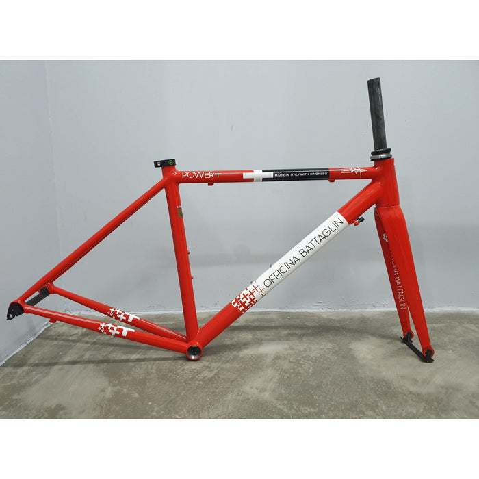 Battaglin Power+ Steel Frameset - Red