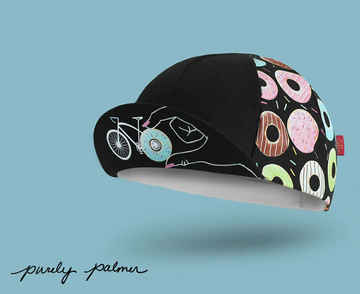 Bello Cotton Cycling Cap - Donut Mess Dark - SpinWarriors