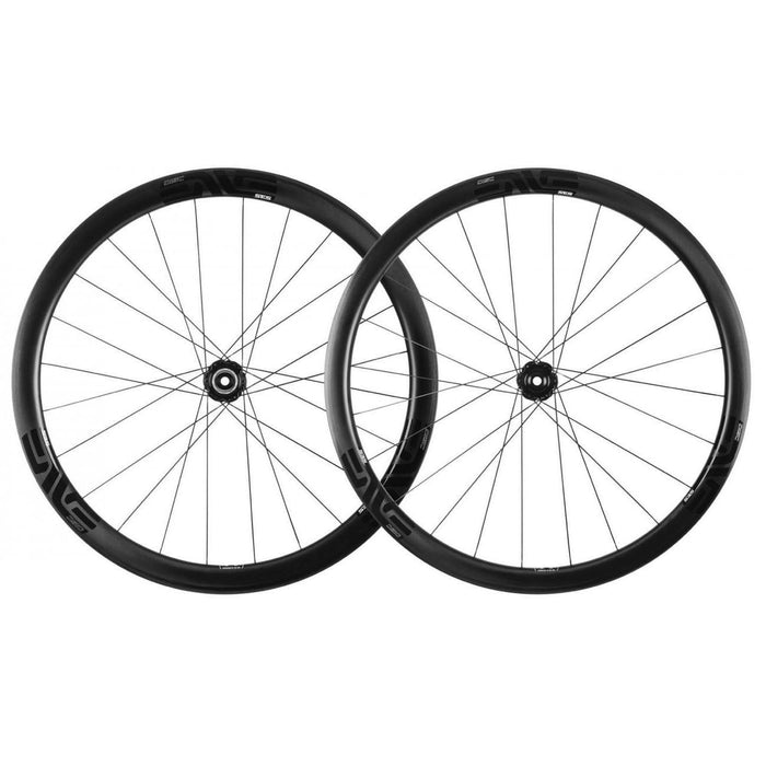 ENVE SES 3.4 Carbon Clincher Road Disc Wheelset - Chris King R45 Ceramic Hubs - Black Decal