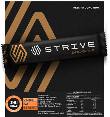 Strive Energy Bar - Salted Caramel - SpinWarriors