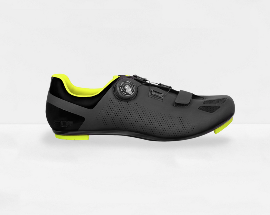 FLR F-11 Road Shoes - Black/Yellow