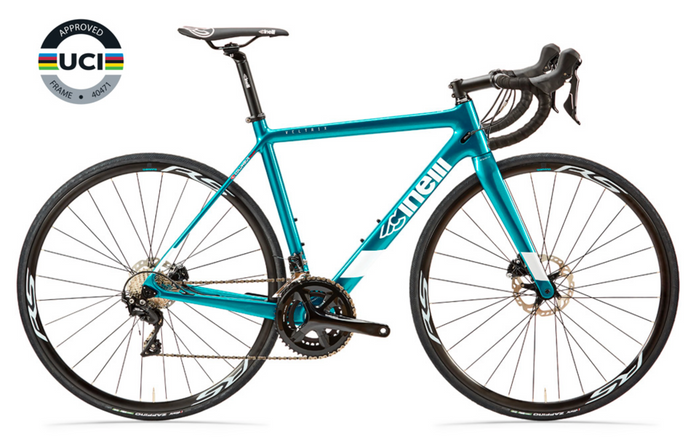 Cinelli Veltrix Road Disc Bike with Shimano 105 - Blue in Green