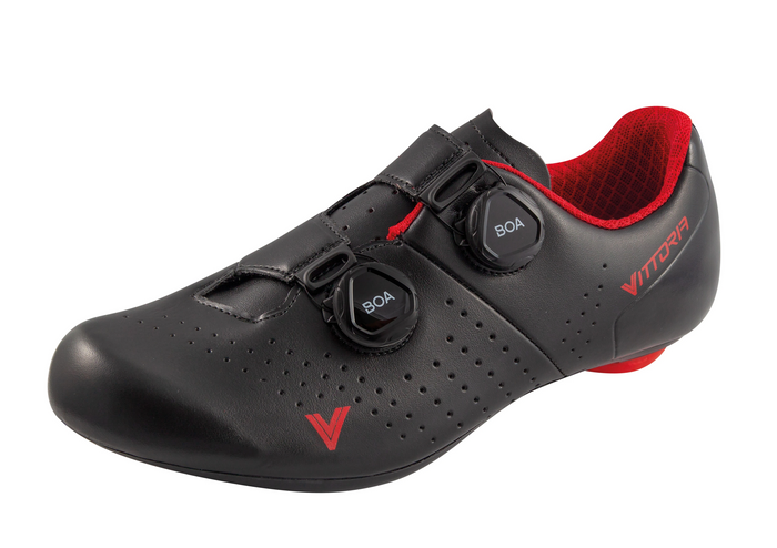 Vittoria Veloce Road Shoes - Black/Red